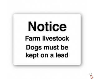 Notice Farm Livestock Sign 300x400x3mm PVC