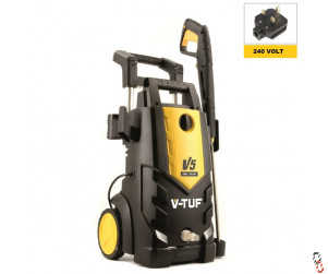 V-TUF V5 240v Heavy Duty, Portable Professional Electric Cold Water Pressure Washer - 2400psi, 165Bar, 7.2L/min, supplied with washer