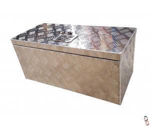 "Toolbox Aluminium Checker Plate, 26x12x12"" WxHxD (660x300x300mm)"