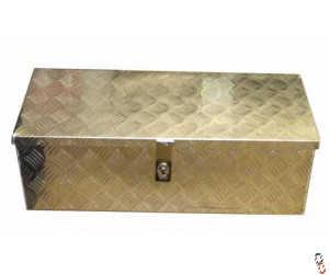 "Toolbox Aluminium Checker Plate 31x13x10"" WxHxD (790x330x260mm)"