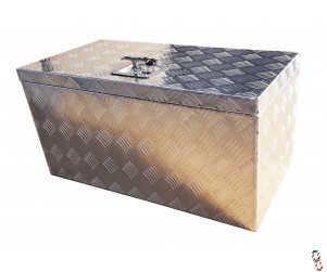 "Toolbox Aluminium Checker Plate 28x14x14"" WxHxD (710x360x360mm)"