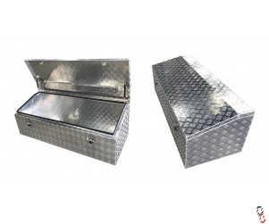 "Toolbox Aluminium Checker Plate 59x25x20"" WxHxD (1500x635x510mm)"
