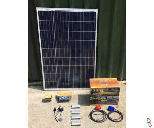 Farmstream 115W solar power kit to power CCTV Camera