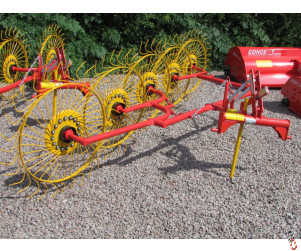 NEW ACROBAT 5 wheel hay and straw rake/straw turner