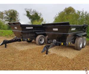 BARFORD D15 Dump Trailer 15 tonne, Hi-Side, Sprung Drawbar, New - In Stock