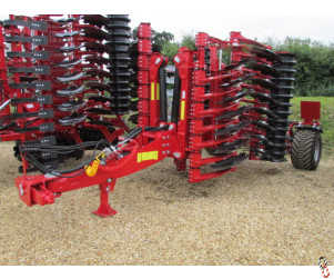PROFORGE INVERTAMAX 4 metre Heavy Short-Disc Speed-Disc Harrow Cultivator, New,