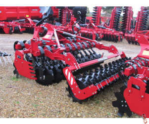 PROFORGE INVERTAMIN 3.0 metre Short-Disc Speed-Disc Harrow Cultivator, NEW, Tooth Packer