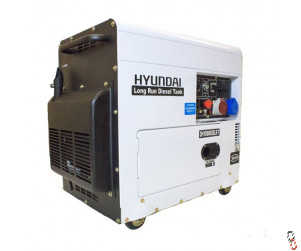 Hyundai 6kW/7.5kVA Multi-phase - Single and Three Phase - Silenced Long Run Standby Diesel Generator | DHY8000SELR-T, New