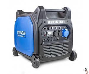 Hyundai 6600W/6.6kW Remote Electric Start Petrol Portable Inverter Generator | HY6500SEi, New