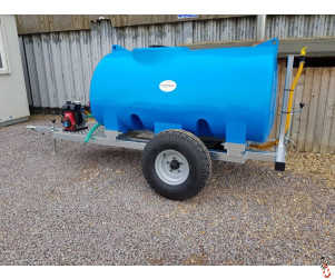 Bowser Trailer 1500 litre - New - Multi-Purpose Dust/Fire Suppression - Animal Drinking Water Bowser