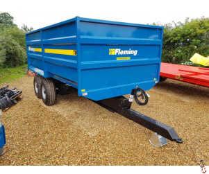 FLEMING TR8M Grain Trailer 8 tonne, NEW, 2021, In Stock, Grain Chute,