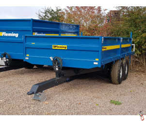 FLEMING TR8 Tipping 8 Tonne Dropside Trailer, New, 2021, Twin Axle, 8 Tonne Carry - In Stock