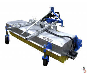 Agricultural Yard Sweeper 2.3 metre - PROFORGE TRACSWEEP Hyd. Drive Tractor Mounted Brush - Galvanised