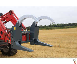 Tractor Log Grab Attachment, 1300kg lift (with Euro Brackets) - New