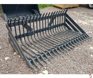 """PROFORGE Root Bucket or Stone Bucket, 2200mm (7ft3"""") with Euro Brackets"""