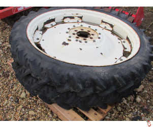 8.3 x 44 Rowcrop wheels and Tyres, 80% Kleber tyres, Pair