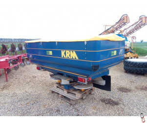 KRM BOGBALLE M2W Twin disc fertiliser spreader, Speed Rate Variator