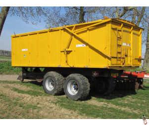 R & R Grain Trailer, 16 tonne, Air & Oil Brakes, Hyd door, rollover sheet
