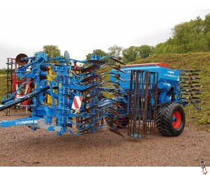LEMKEN SOLITAIRE 9 - RUBIN 4 metre Trailed Seed Drill Combination, 2014, 1409 hectares
