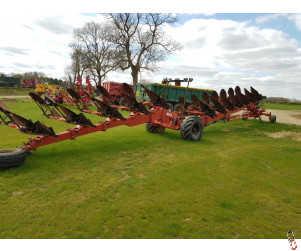 GREGOIRE BESSON SPEL 12 furrow Wagon Plough, On Land
