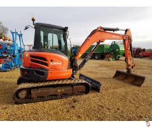 KUBOTA U55-4 Digger, 5.5 tonne, Rubber Track, 2014, 3300 Hours
