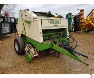 KRONE KR130 Mini-Stop Round Baler, Fixed Chamber 4ft Bale Size
