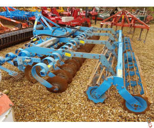 LEMKEN HELIODOR 8 ShortDisc 4 metre Rigid with Hyd Front Levelling board, 2012 - New Discs Fitted