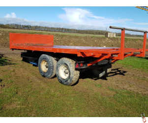 AS MARSTON 16ft Flat Bed Bale Trailer 8 tonne, Twin axle