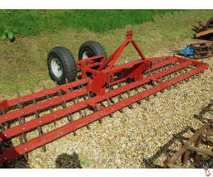 Front Mounted 4 metre Dutch Harrow Levelling Cultivator