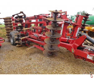SUMO Quatro 4m trailed primary cultivator, year 2007 c/w front disc gang