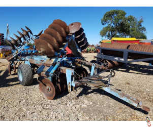 PARMITER 15ft Super Utah Heavy Offset Disc Harrows, hyd folding