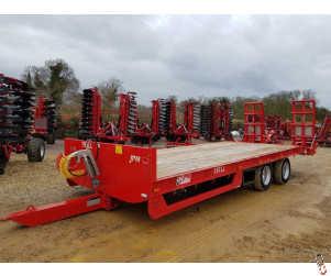 JPM Lowloader Plant Trailer, 15 tonne Carry, 24ft, Air & Oil Brakes, 2020