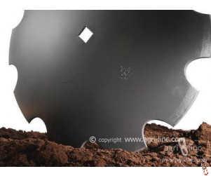 "24""/610mm x 5mm, 41mm square centre, cutaway disc blade suits Parmiter, Besson, Quivogne, Kuhn, Kongskilde, Cousins, etc"