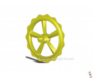 "Bison Press Roller Ring ""Claw/Claw""  Ductile High Quality to fit Vaderstad Rexius Twin"