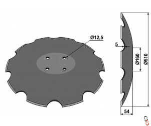 """20""""/510 x 6mm Cutaway Disc for Proforge InvertaMin, to fit PA300687"""