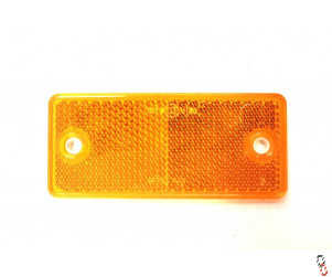 Yellow/Amber Rectangle Reflector 90x40mm