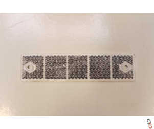 White Rectangle Reflector 180x40mm