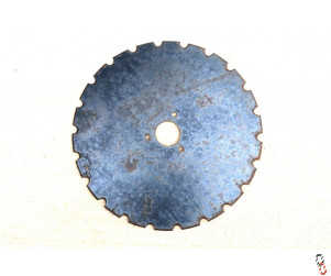 Genuine Moore Unidrill 416x5mm Grassland Disc Blade  (3 Hole) Notched disc