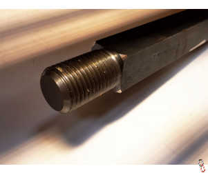 Disc Shaft 40x40x1500mm with M39 thread.