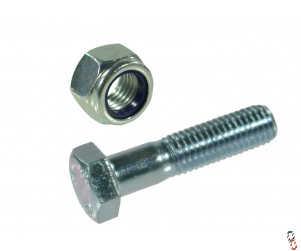 Post Hole Borer - PTO Shaft Shear Bolt & Nut for Blueline Borers, Pack of 20