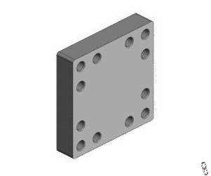 Scharmuller weld-on mounting plate for 12 bolt hole hitch