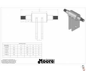 Genuine Moore Unidrill Press Wheel Axle