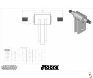 Genuine Moore Unidrill Press Wheel Axle (NKE)