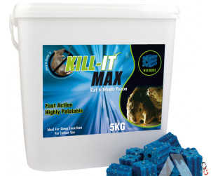 Kill-it Max Rat & Mouse Wax Bait Blocks, 5 kg