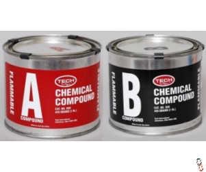 Tech 858 A & B Rubber Compount Kit, 0.5 kg A + B cans