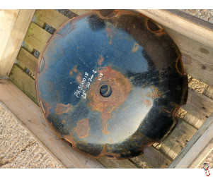"""28"""" / 710mm x 6mm 50.8mm round centre cutaway disc blade, shopsoiled, gone slightly rusty"""