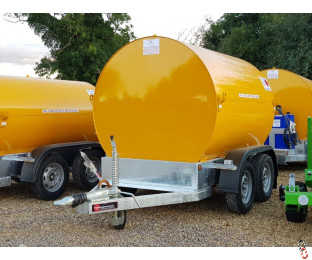 2140 Litre U.N. Approved Bunded Highway Diesel Bowser with 12v Electric Pump - New : Optional AdBlu Tank - In Stock