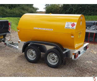 950 Litre U.N. Approved Bunded Highway Diesel Bowser with 12v Electric Pump - New : Optional AdBlu Tank - In Stock