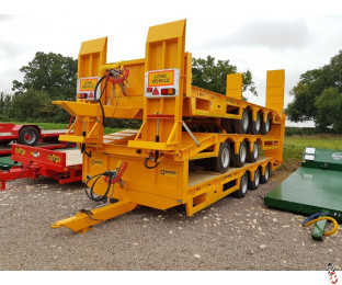 BARFORD L27 TriAxle Lowloader Trailer, 22 tonne Carry, Beavertail Plant, New, Stock Arrived!