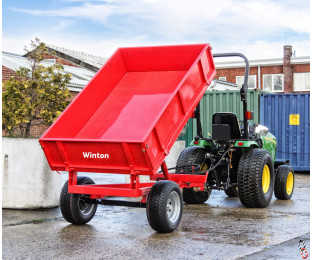 WINTON 1.5 tonne Hyd Tipping Trailer with Hinged Sides, New